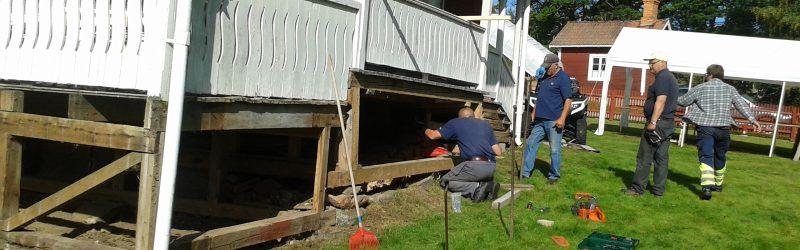 Reparation av Bystugans veranda 2-3 och 9-10 september 2017